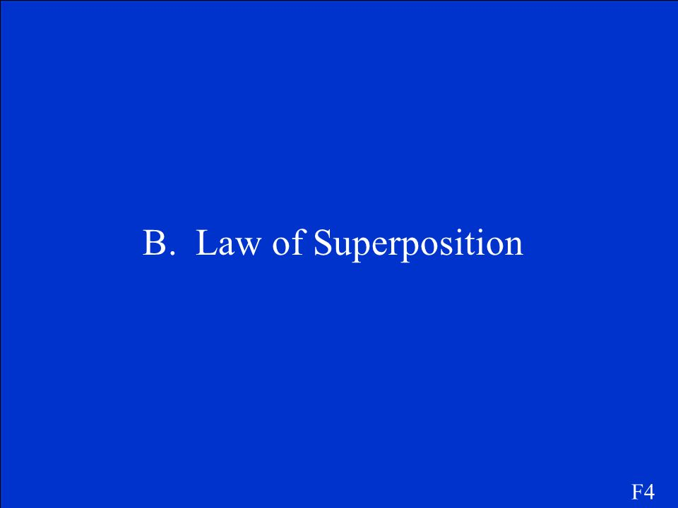 B. Law of Superposition F4