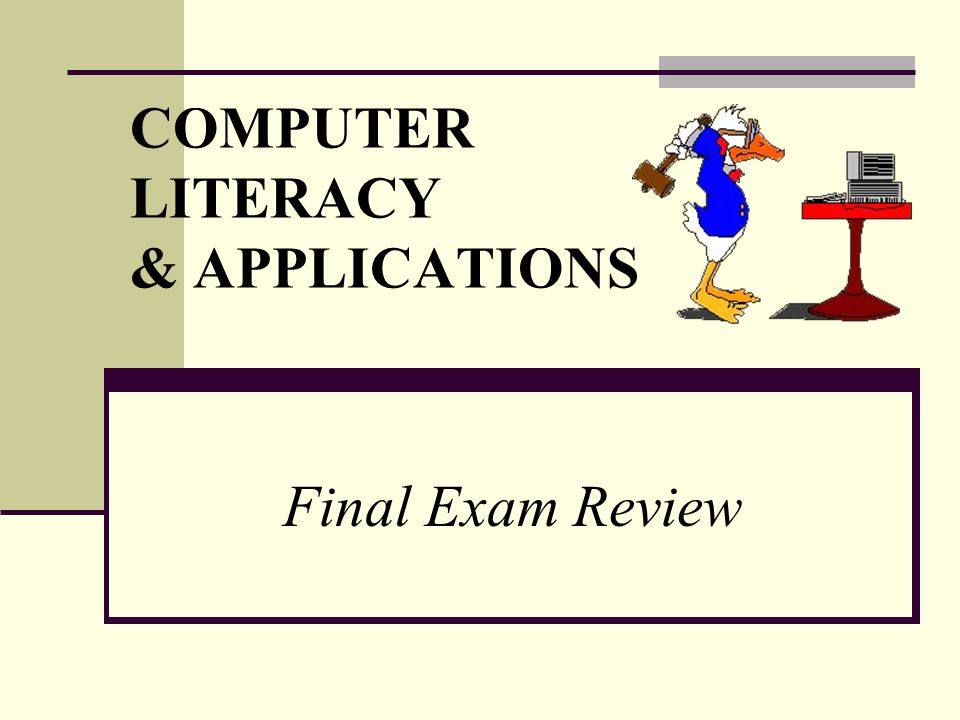 COMPUTER LITERACY & APPLICATIONS