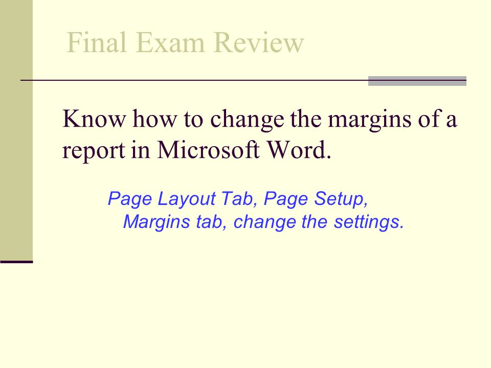 Know how to change the margins of a report in Microsoft Word.