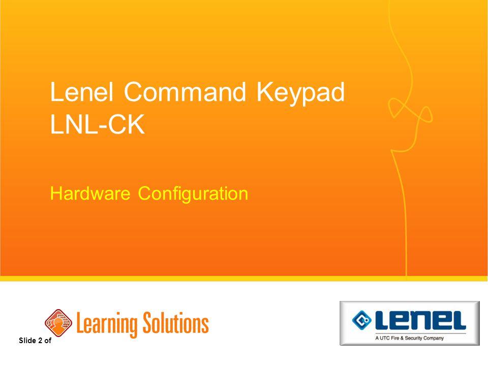 Lenel Command Keypad LNL-CK