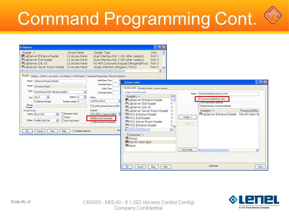 Command Programming Cont.