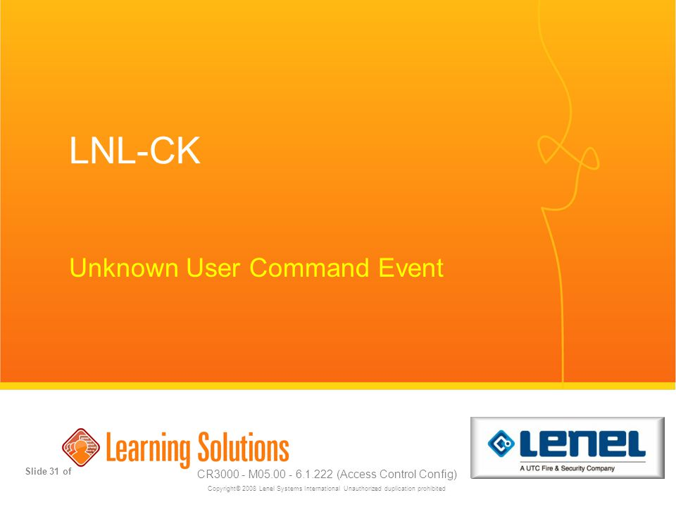 Unknown User Command Event