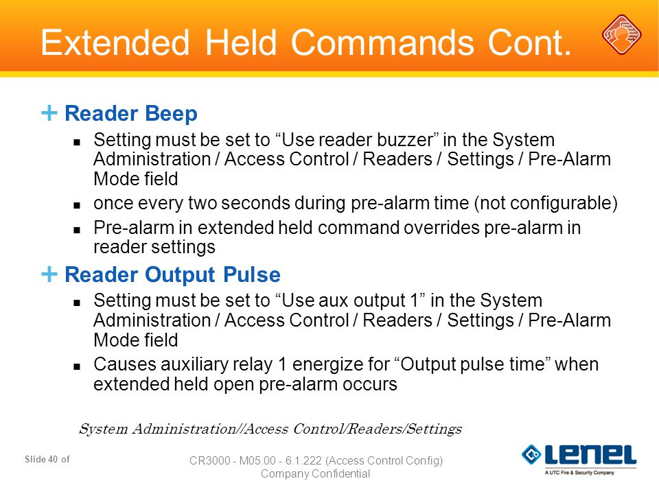 Extended Held Commands Cont.