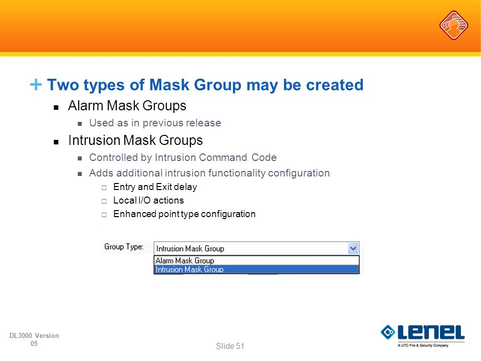 Two types of Mask Group may be created
