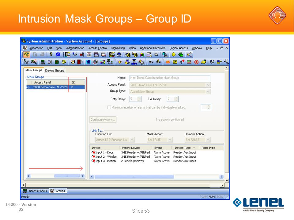 Intrusion Mask Groups – Group ID