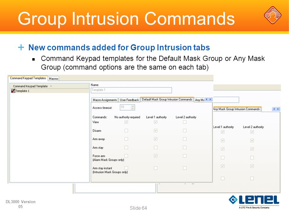 Group Intrusion Commands