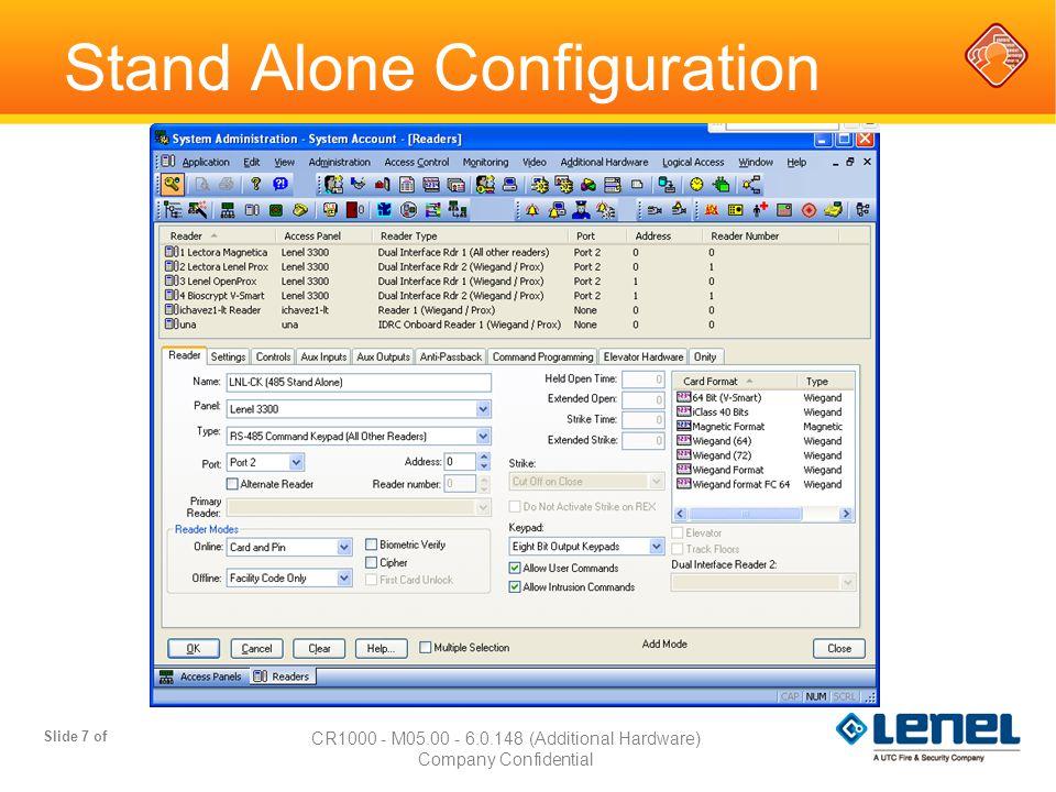 Stand Alone Configuration