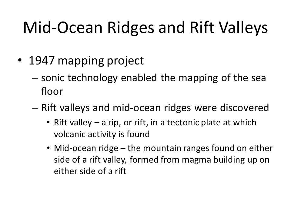 Mid-Ocean Ridges and Rift Valleys