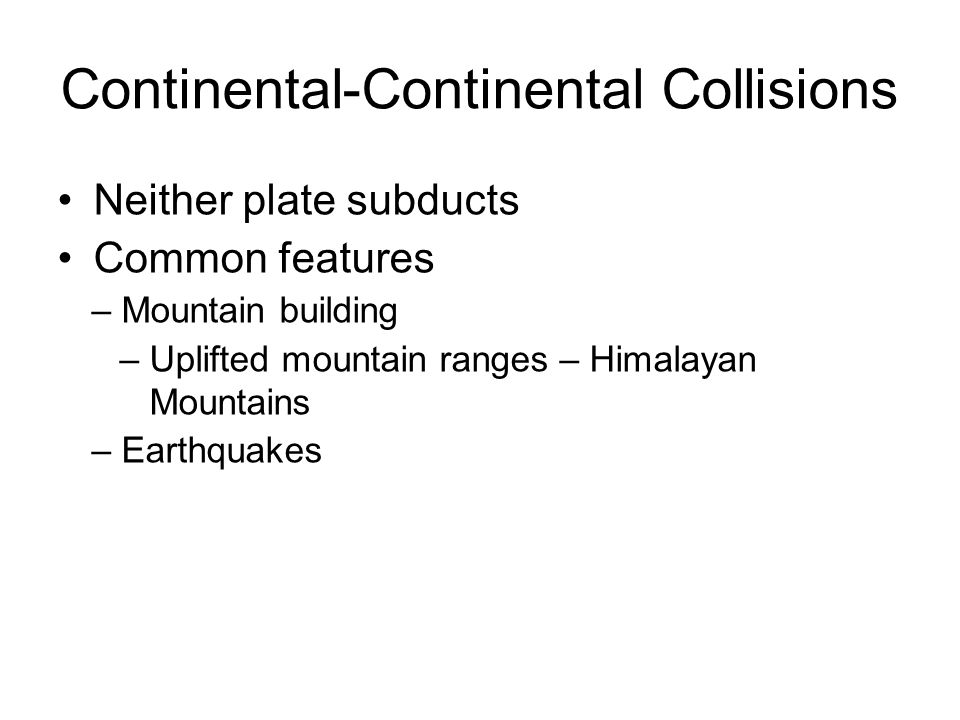 Continental-Continental Collisions
