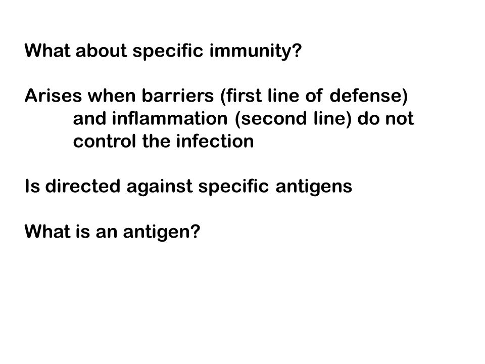 What about specific immunity