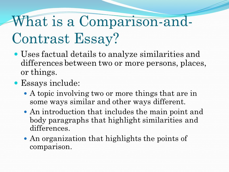 What is a Comparison-and-Contrast Essay