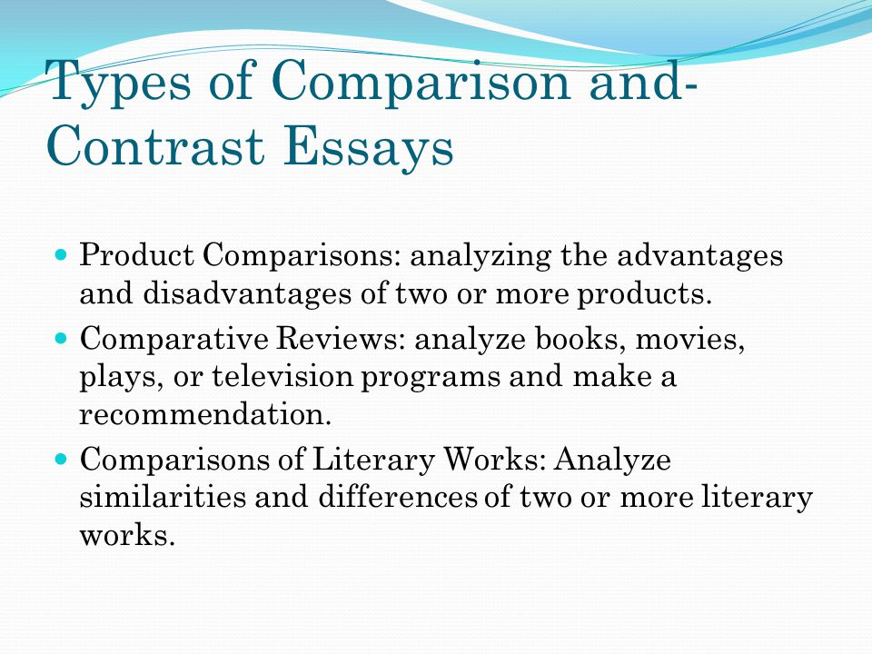 Chapter 8 exposition comparing and contrasting ppt download Types of contrast