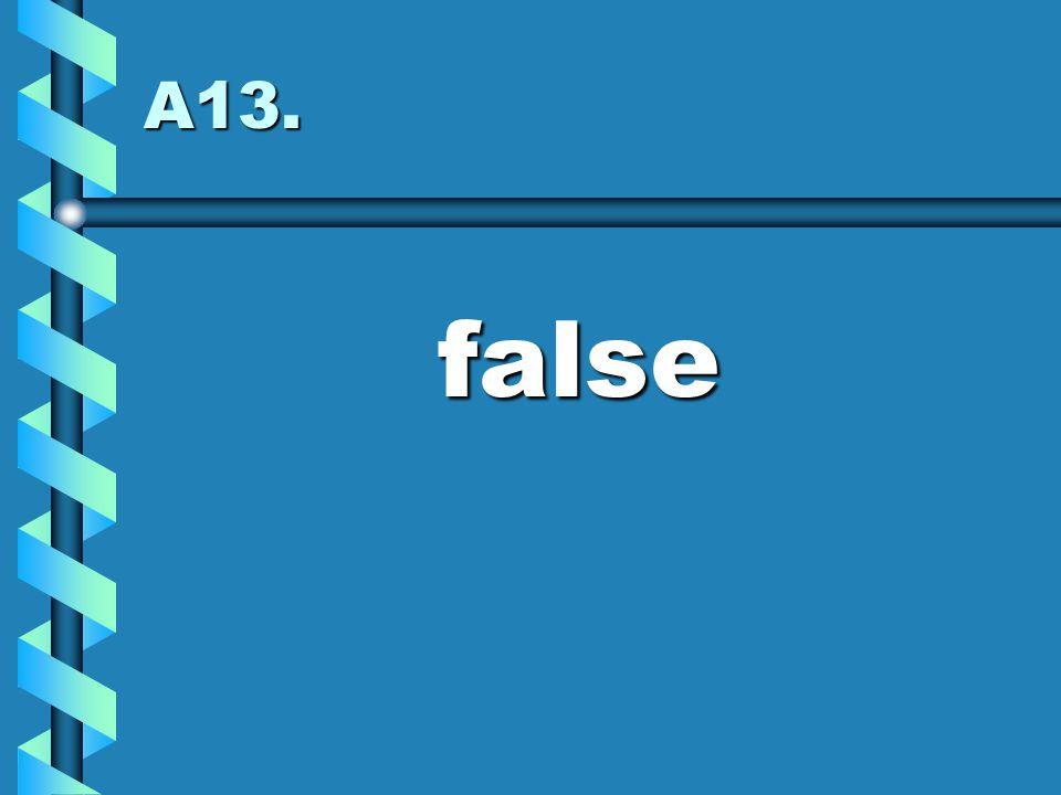 A13. false