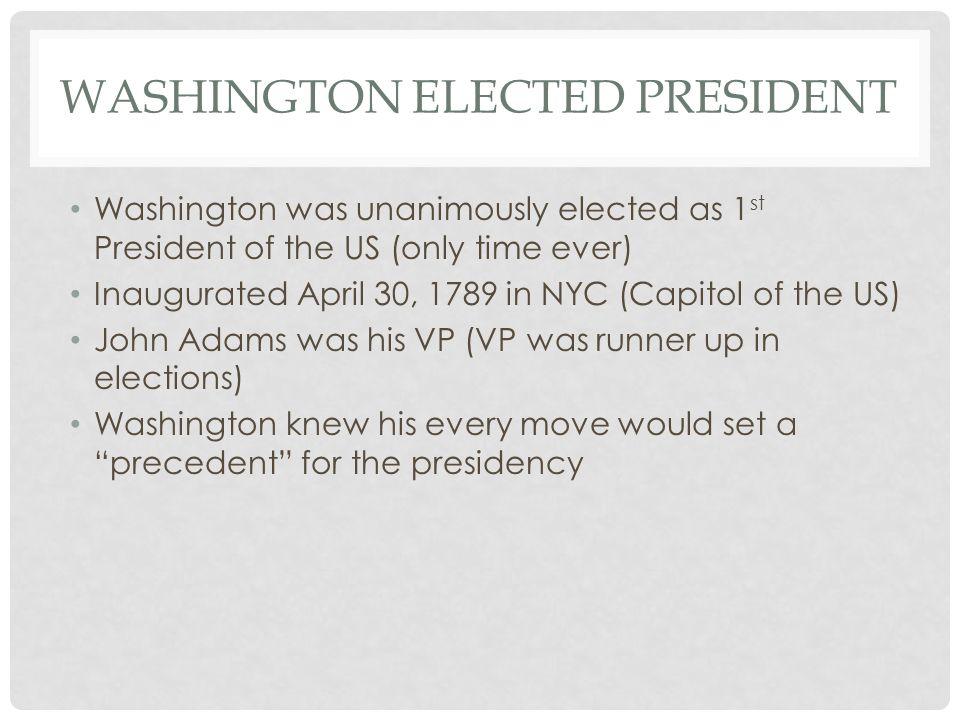 Washington elected President