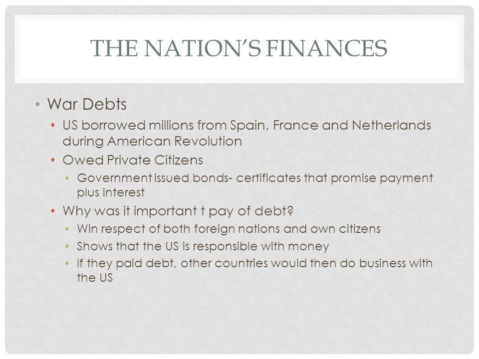 The Nation's Finances War Debts