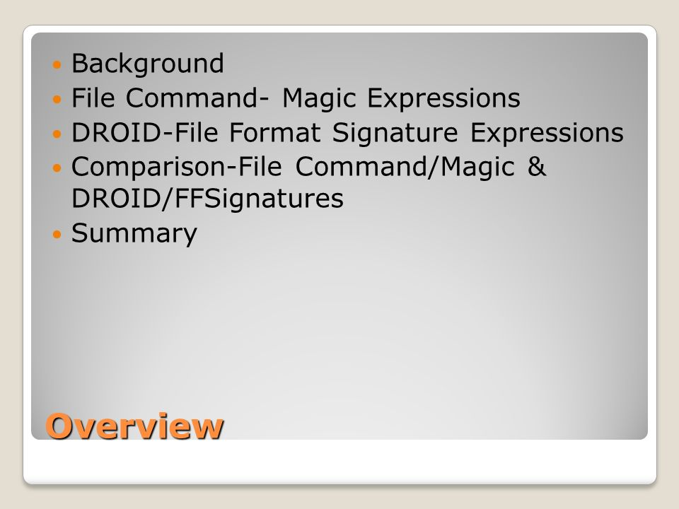 Overview Background File Command- Magic Expressions