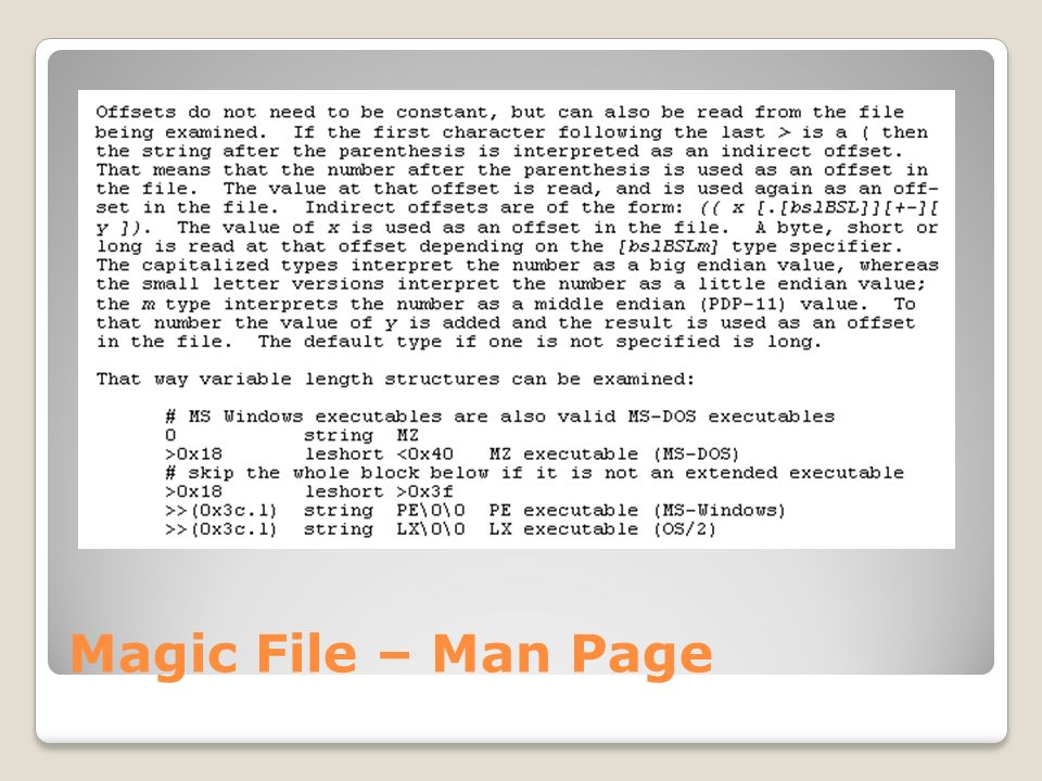 Magic File – Man Page