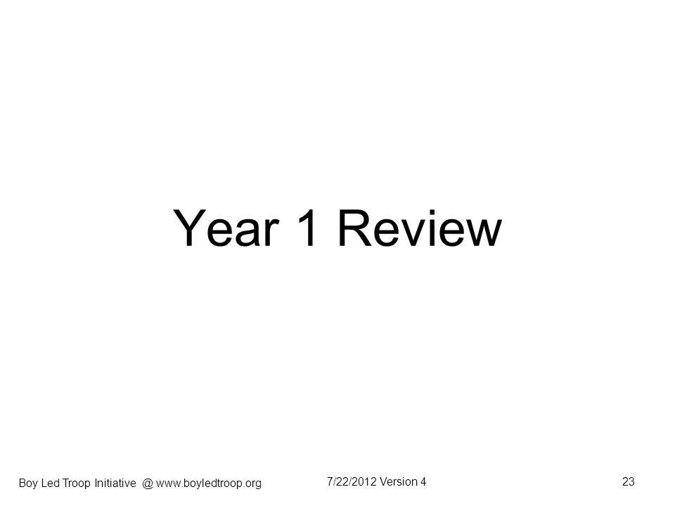 Year 1 Review 7/22/2012 Version 4