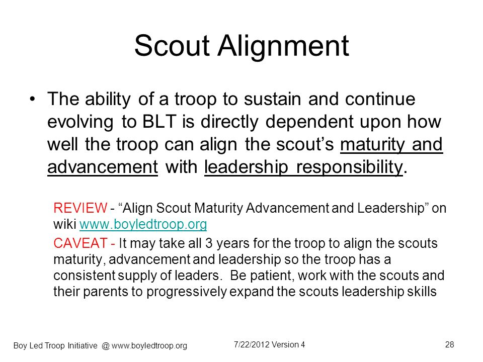 Scout Alignment