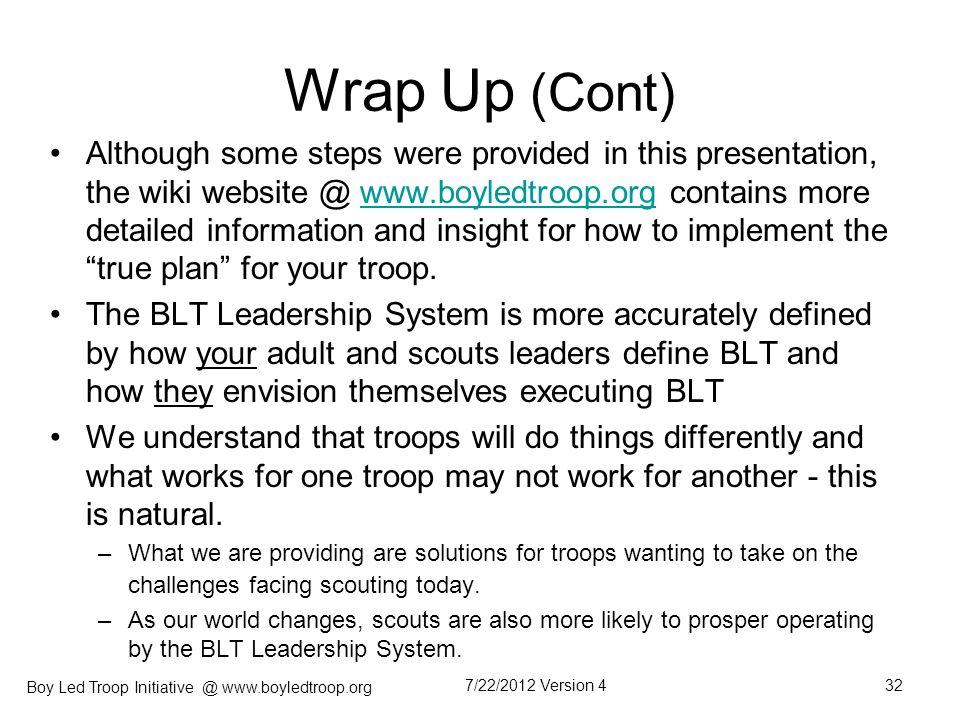 Wrap Up (Cont)