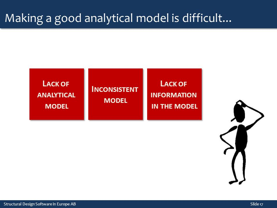 Lack of analytical model Lack of information in the model