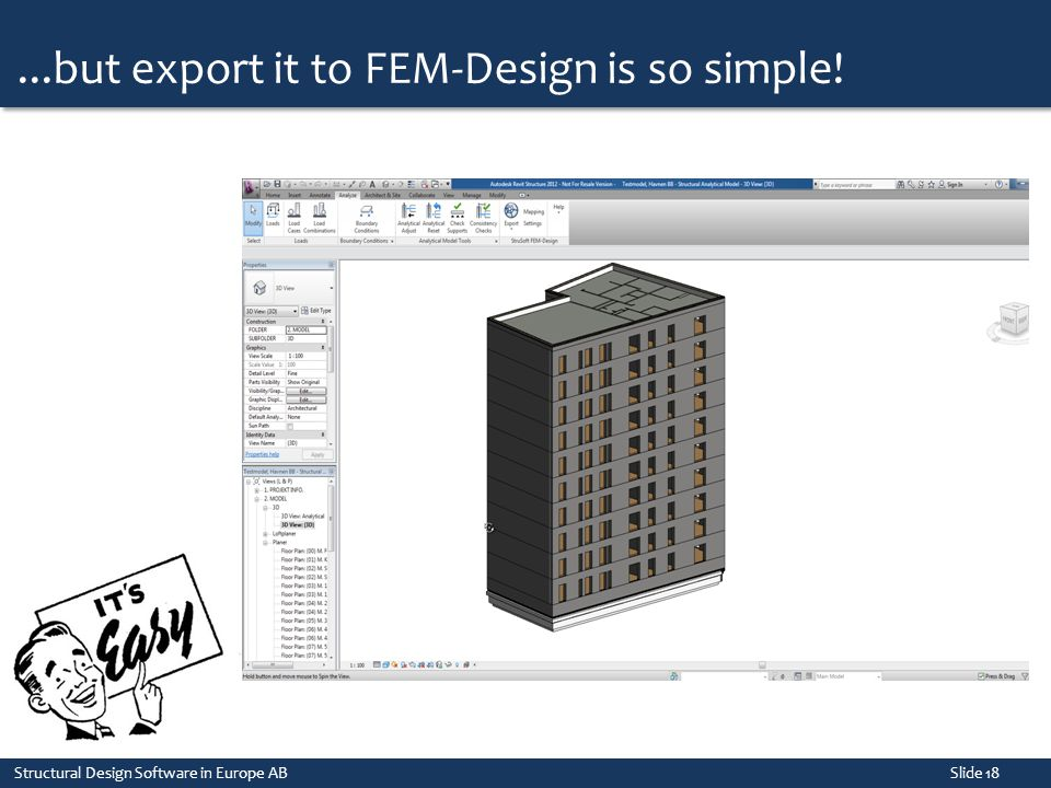 ...but export it to FEM-Design is so simple!