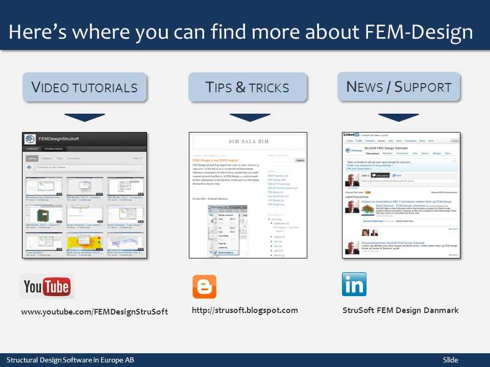 Here's where you can find more about FEM-Design