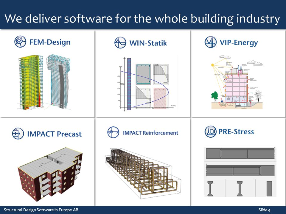 We deliver software for the whole building industry