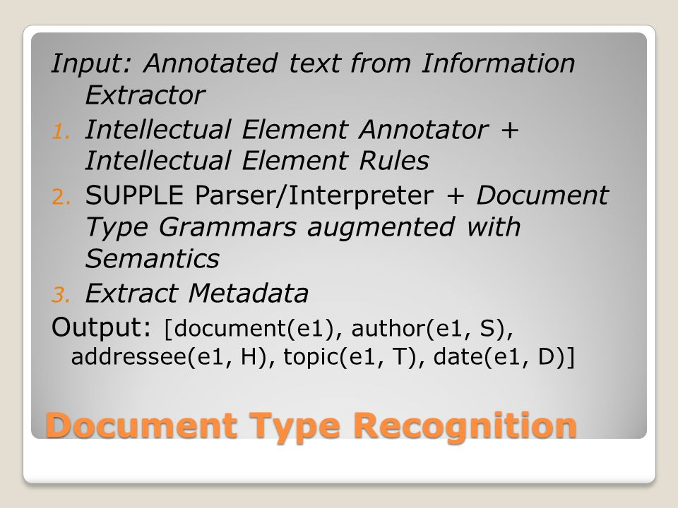 Document Type Recognition