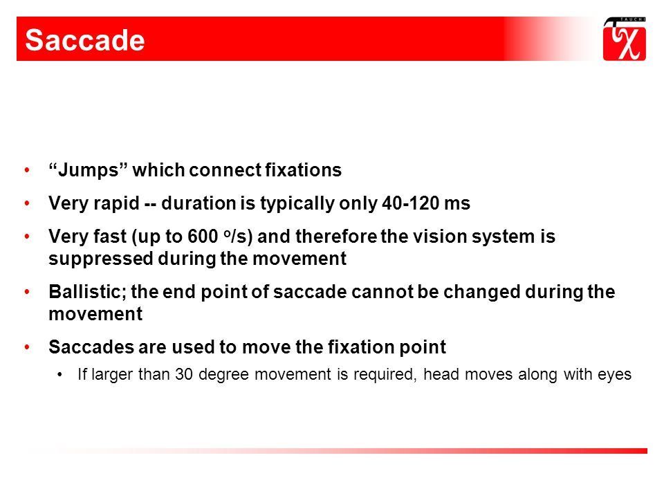 Saccade Jumps which connect fixations