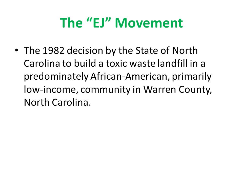 The EJ Movement