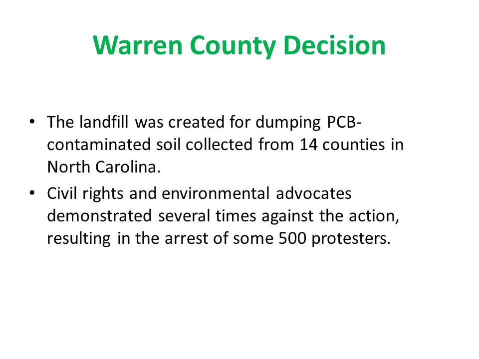 Warren County Decision