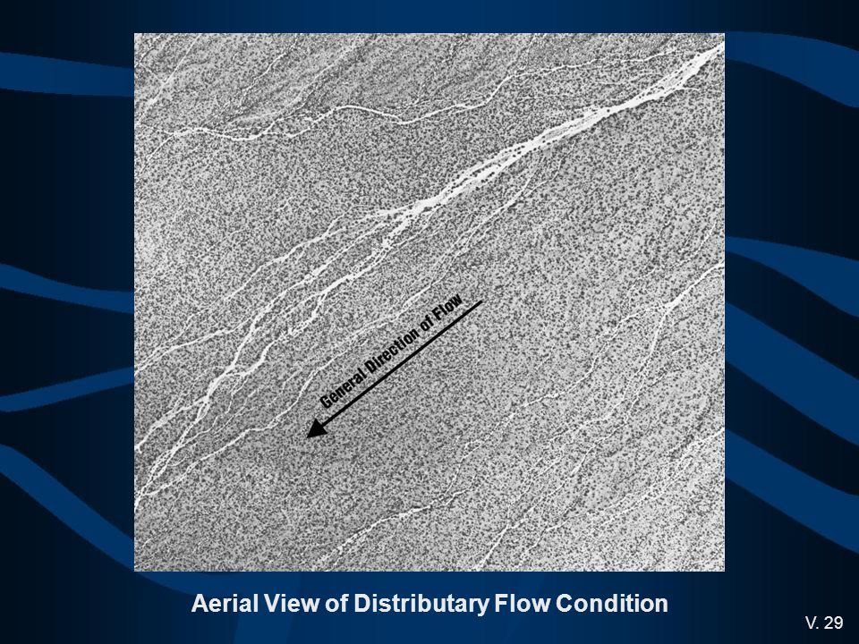 Aerial View of Distributary Flow Condition