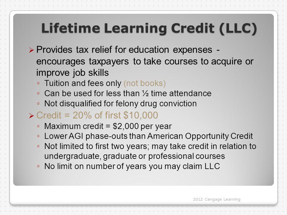 Lifetime Learning Credit (LLC)