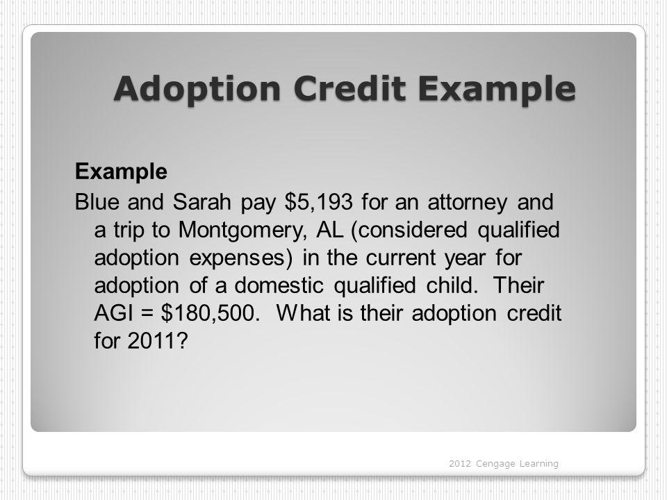 Adoption Credit Example