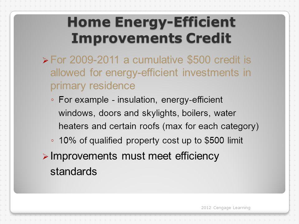 Home Energy-Efficient Improvements Credit