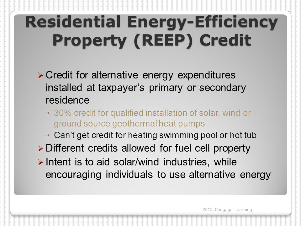 Residential Improvements For Energy Efficient Home Credit