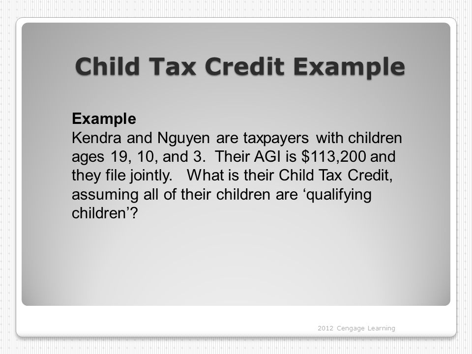 Child Tax Credit Example