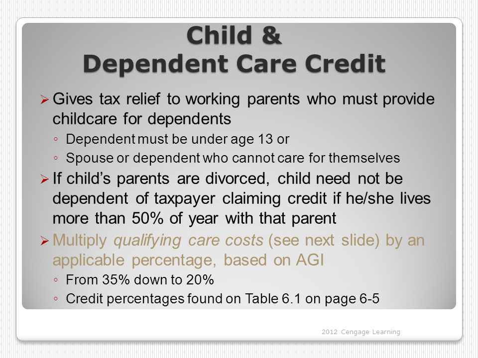 Child & Dependent Care Credit
