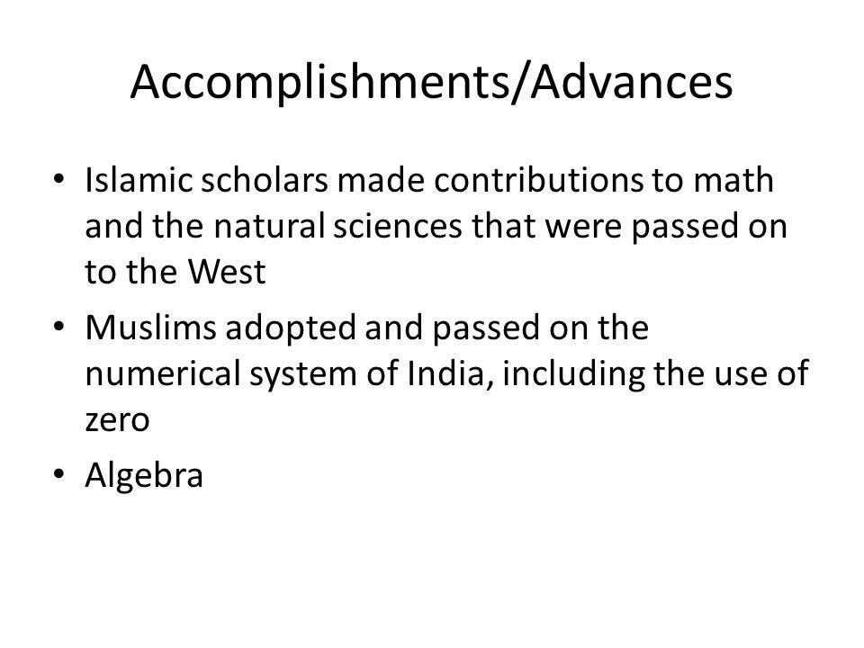 Accomplishments/Advances