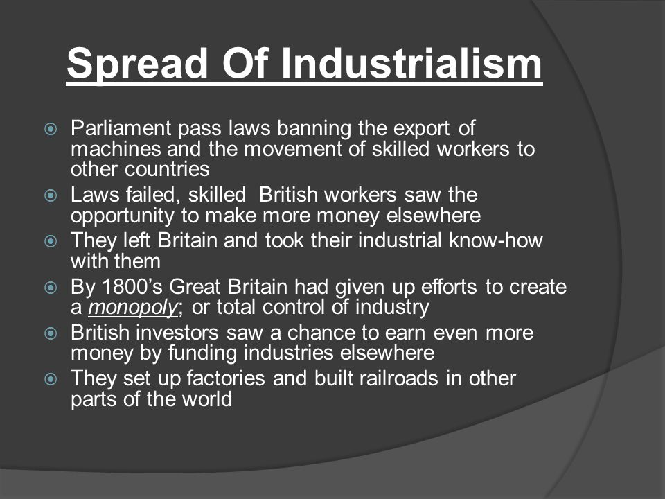 Spread Of Industrialism