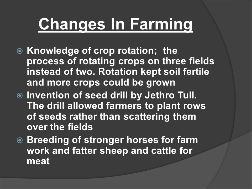 Changes In Farming