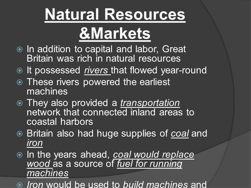 Natural Resources &Markets