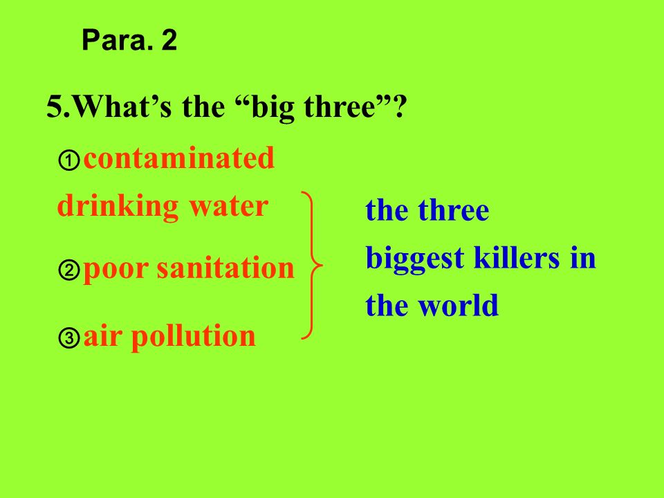 the three biggest killers in the world