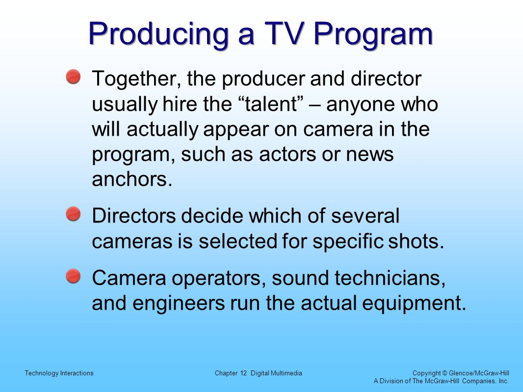 Producing a TV Program