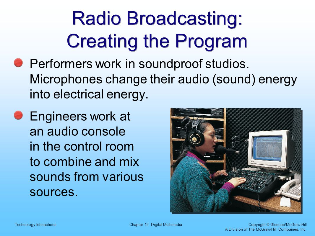 Radio Broadcasting: Creating the Program