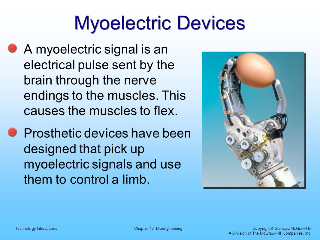 Myoelectric Devices