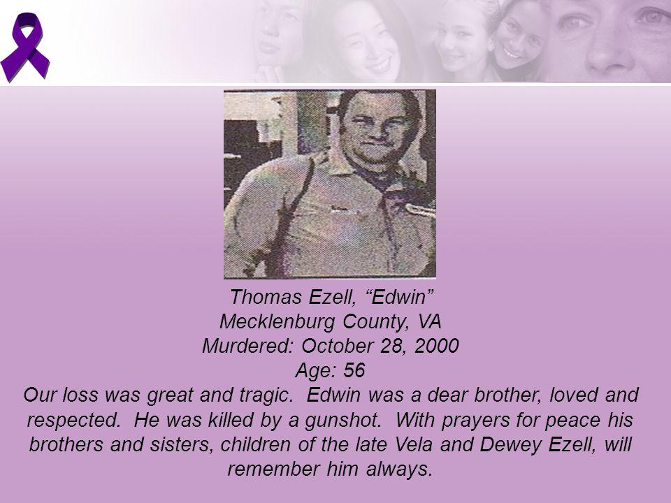 Thomas Ezell, Edwin Mecklenburg County, VA