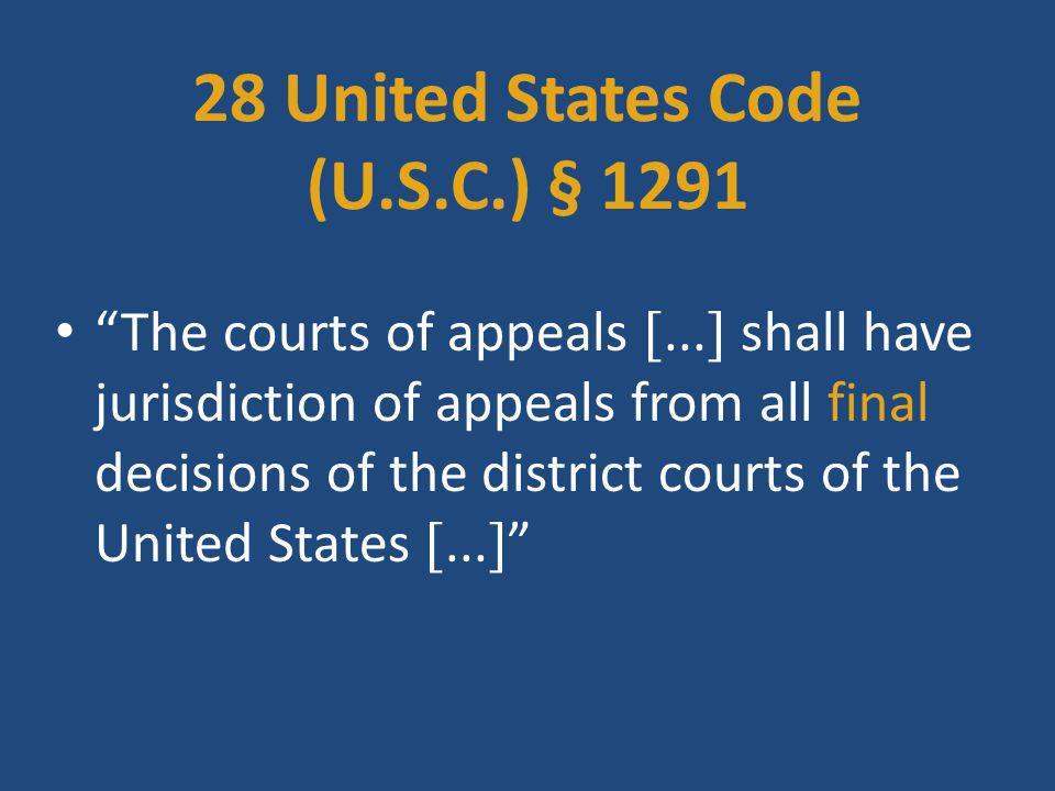 28 United States Code (U.S.C.) § 1291