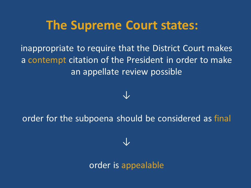 The Supreme Court states: